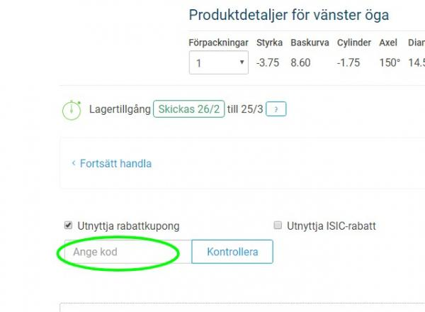 Rabattkod hos Lentiamo.se