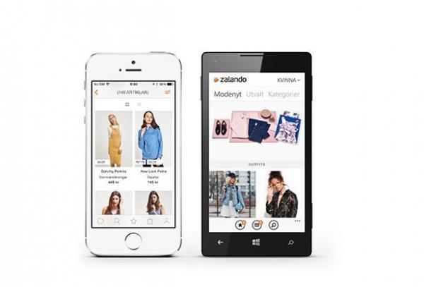 Shoppa enkelt med Zalandos app.