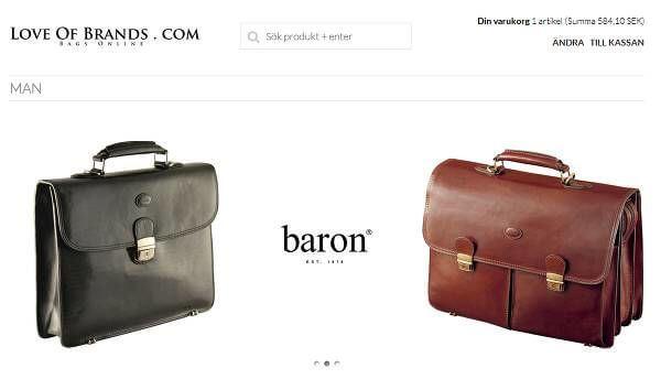 Hos LoveOfBrands.com hittar du bara kvalitetsgrejer från t.ex. Baron