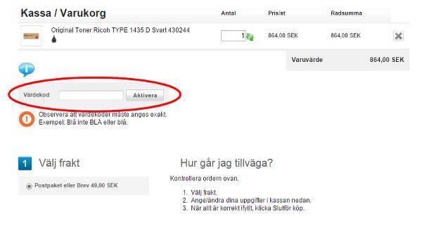 Hos Patroner.se kallas rabattkoder för värdekoder.