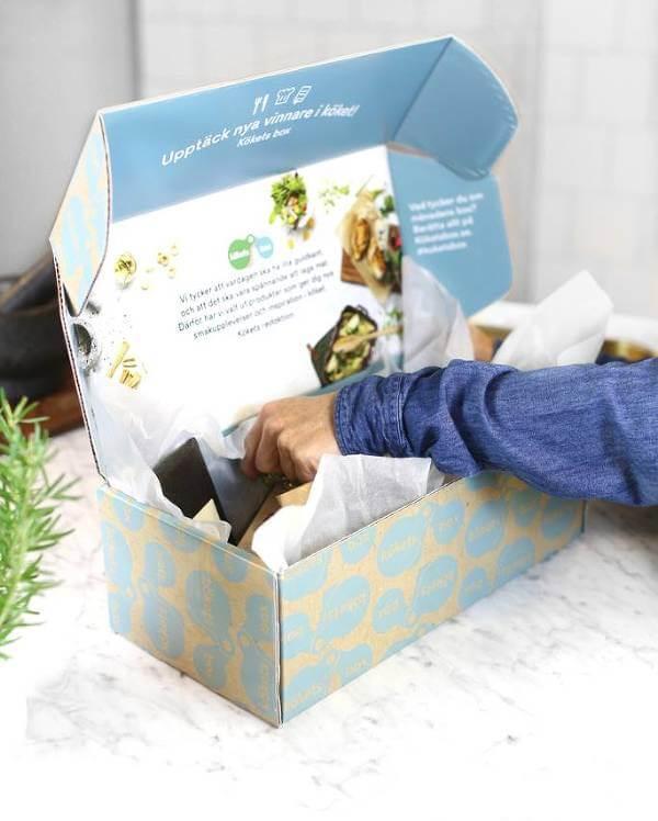 Box fylld med goda produkter.