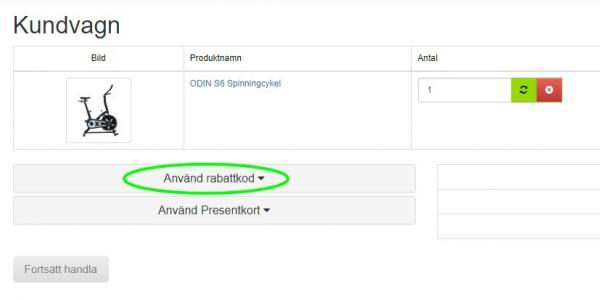 Rabattkodsfält Apuls24.se
