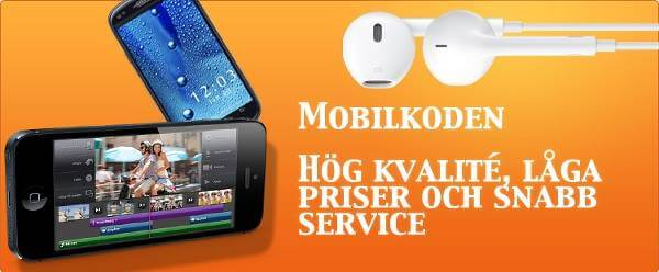 En reklambanner för Mobilkoden