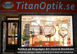 TitanOptiks butik på Södermalm i Stockholm