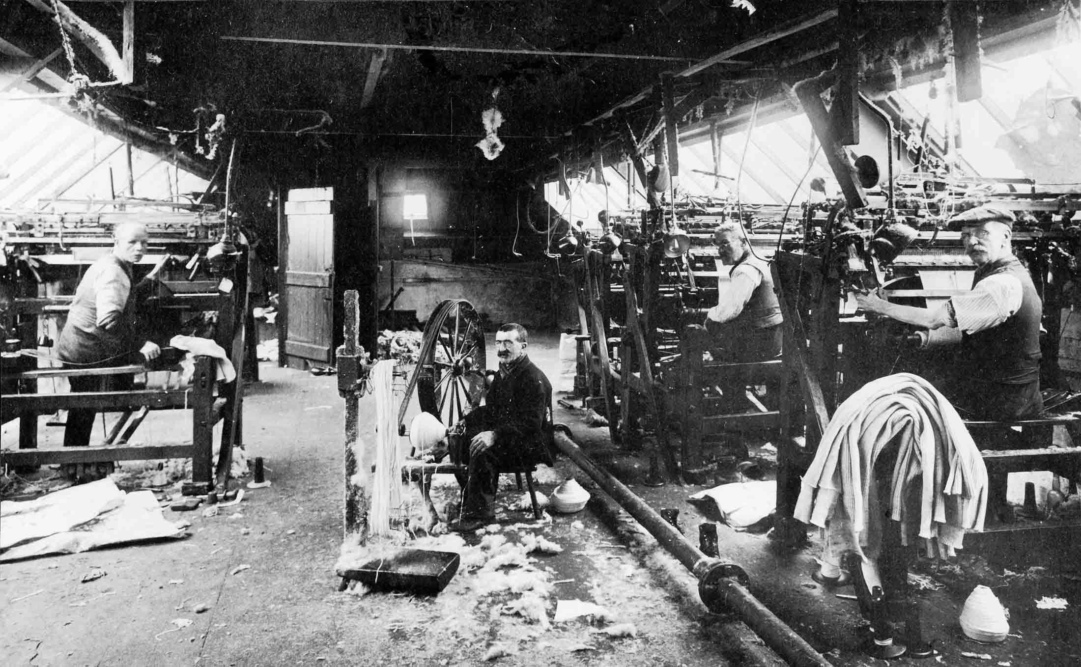 Såhär såg det ut på 1800-talet i Lyle&Scotts fabrik.