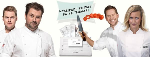 På 48 timmar kan man få sina knivar slipade.