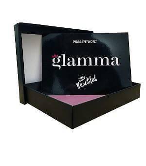 Glamma erbjuder presentkort i olika storlekar.