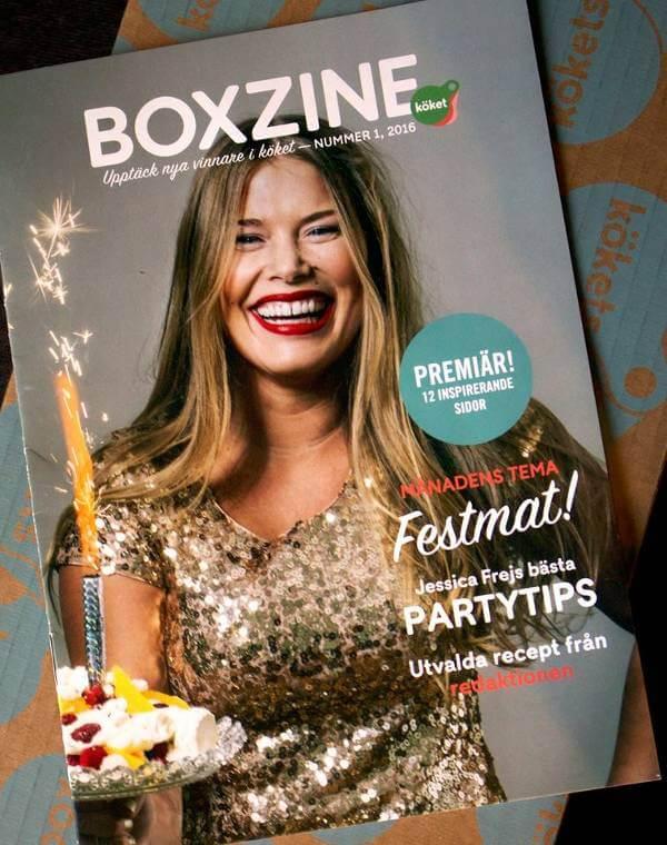 Det inspirerande matlagningsmagasinet Boxzine.