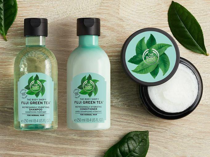 The Body Shop erbjuder ett stort sortiment av välgörande produkter för kropp och själ.