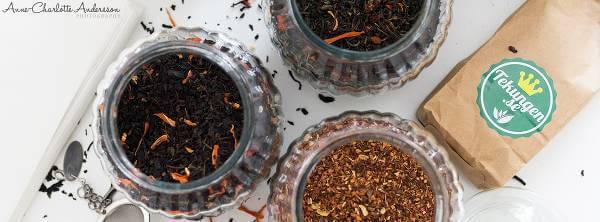 Härligt te att välja bland hos Tekungen