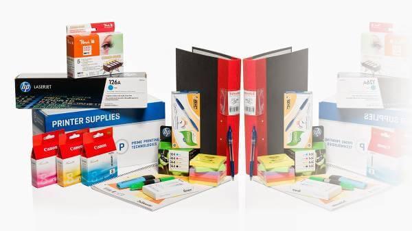 Kontorsmaterial som pärmar, skrivarpatroner och pennor finns hos Patroner.se