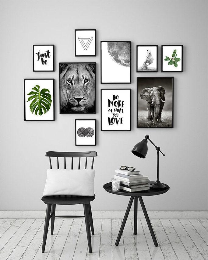 Skapa en fotovägg med hjälp av Nordic Print Store.