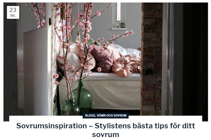 Inspirerande blogg på sova.se.