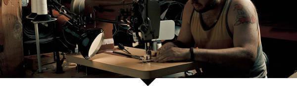 Hantverk, bra råmaterial och hög kvalitet hör till riktlinjerna man följer