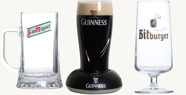 Urval ur sortimentet av glas