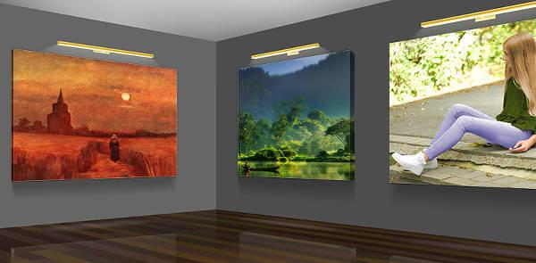 Canvastavlor från Dinprint skapar stämning i rummet.