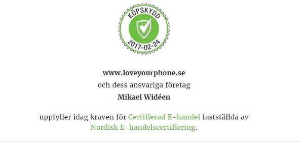 Köpskydd hos loveyourphone.se.