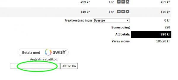 Rabattkod från dunken.se