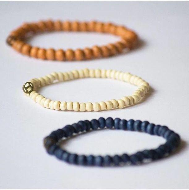 Alla goda ting är tre - här från Happy Beads.