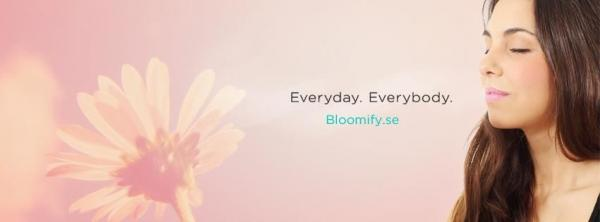 "Bloomify och deras slogan ""Everyday. Everybody""."