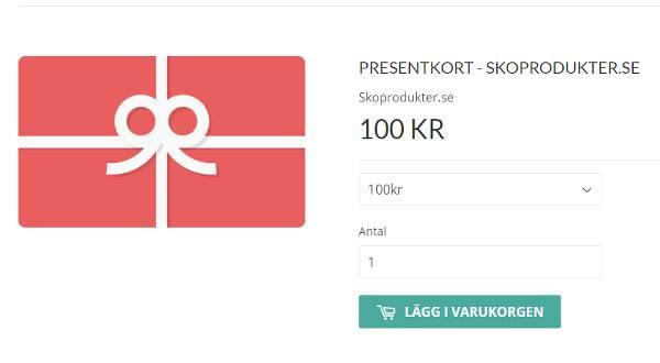 Förgyll någons vardag med ett presentkort från Skoprodukter.se.