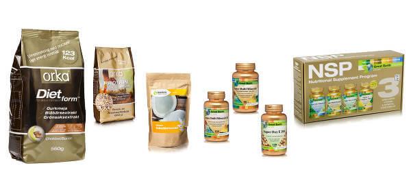 Massvis av produkter som stärker hälsan finns i tillskottsvaruhusets online-butik.
