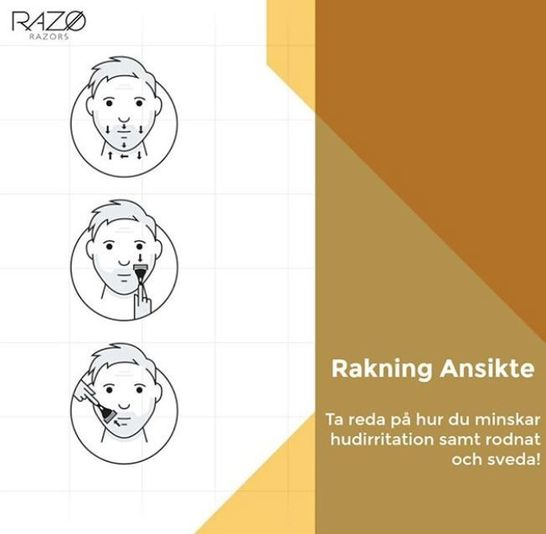 Få tips på hur man rakar sig bäst på någon av Razos sociala plattformar.