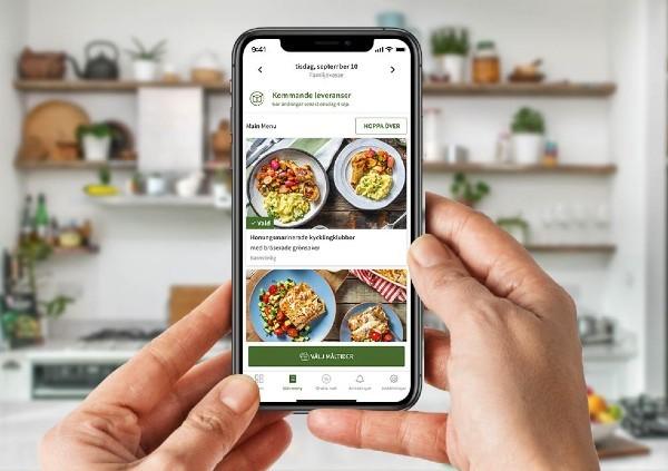 Hitta recept i appen från HelloFresh
