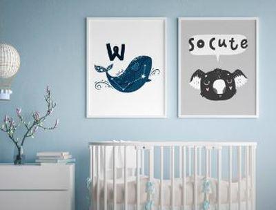 Designade posters för barnrummet hos Optimalprint.