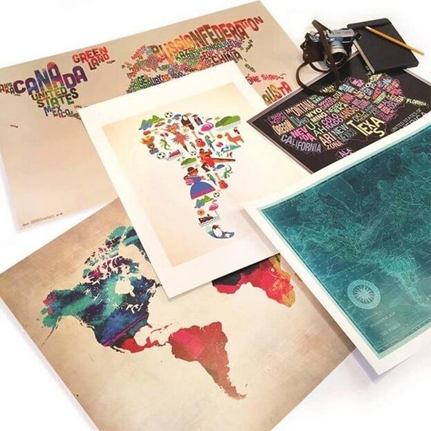 Bilder från AllPosters som verkar i många av världens hörn.