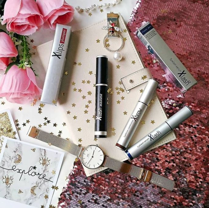 Produkter från Xlash Cosmetics.