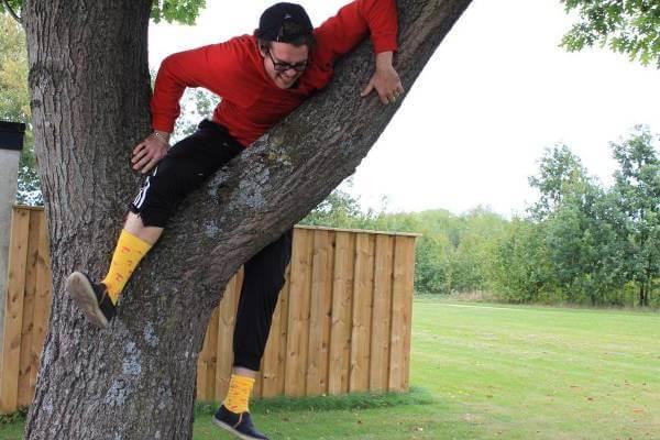 Klättra i träd är ju kul! Kolla in deras blogg för att se vad som egentligen pågår på bilden.