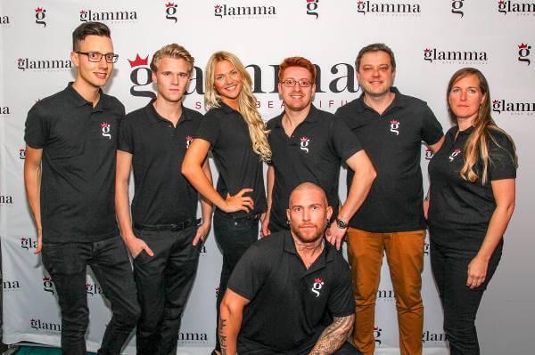 Teamet bakom Glamma.