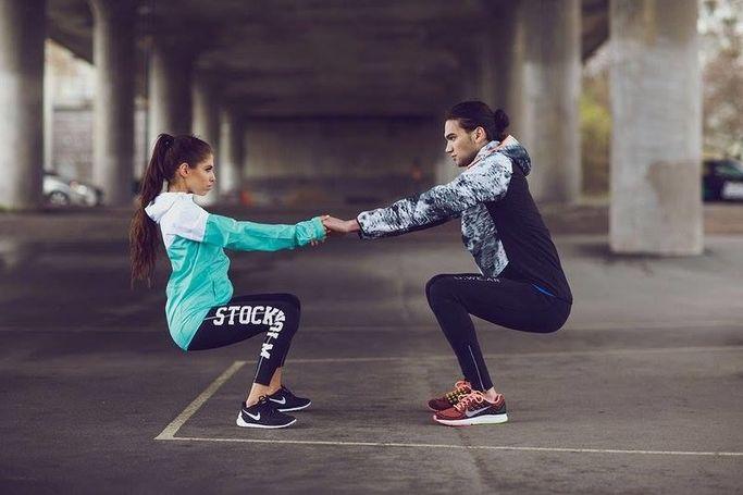 Få tips om träning och bli inspirerad i sociala medier.