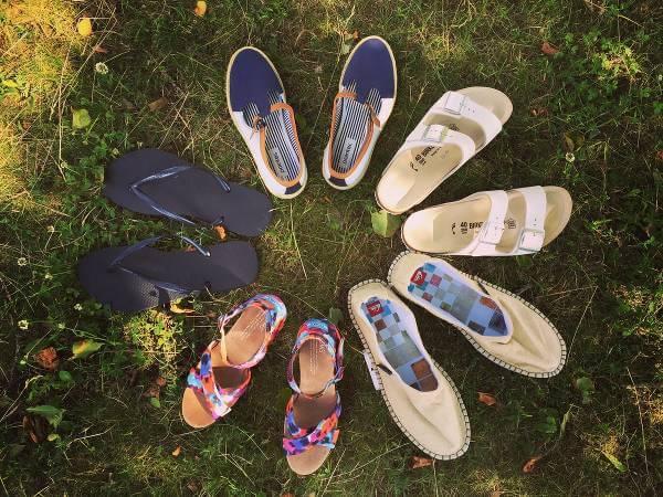 Mängder av olika skor hos Footway.