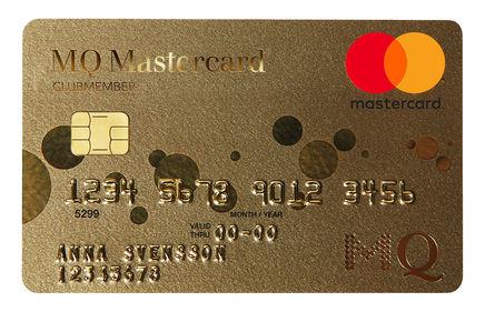 Samla poäng med MQ MasterCard.