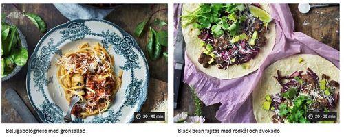 Recept från Linas Vegetariska Matkasse.