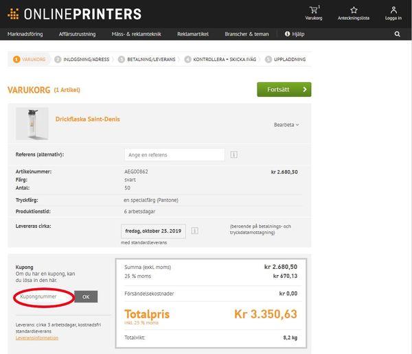 Använd en rabattkod hos Onlineprinters.